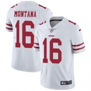 Wholesale Cheap Nike 49ers #16 Joe Montana White Youth Stitched NFL Vapor Untouchable Limited Jersey