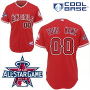 Wholesale Cheap Angels of Anaheim Personalized Authentic Red w/2010 All-Star Patch MLB Jersey (S-3XL)
