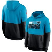 Wholesale Cheap Carolina Panthers Nike Sideline Impact Lockup Performance Pullover Hoodie Blue Black