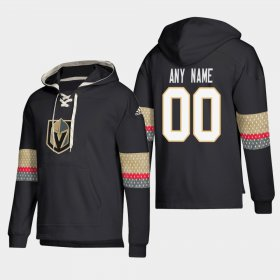 Wholesale Cheap Vegas Golden Knights Personalized Lace-Up Pullover Hoodie Black