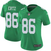 Wholesale Cheap Nike Eagles #86 Zach Ertz Green Women's Stitched NFL Limited Rush Jersey