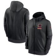 Wholesale Cheap San Francisco 49ers Nike Sideline Impact Lockup Performance Full-Zip Hoodie Black