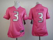 Wholesale Cheap Nike Seahawks #3 Russell Wilson Pink Women's Be Luv'd Stitched NFL Elite Jersey