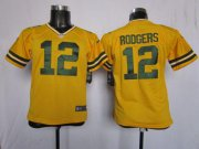 Wholesale Cheap Nike Packers #12 Aaron Rodgers Yellow Alternate Youth Stitched NFL Elite Jersey