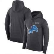 Wholesale Cheap NFL Men's Detroit Lions Nike Anthracite Crucial Catch Performance Pullover Hoodie