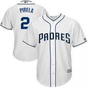 Wholesale Cheap Padres #2 Jose Pirela White New Cool Base Stitched MLB Jersey