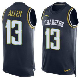 Wholesale Cheap Nike Chargers #13 Keenan Allen Navy Blue Team Color Men\'s Stitched NFL Limited Tank Top Jersey