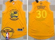 Wholesale Cheap Men's Warriors #30 Stephen Curry Gold AU 2017 New 2017 The Finals Patch Stitched NBA Jersey