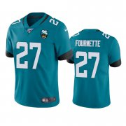 Wholesale Cheap Nike Jaguars #27 Leonard Fournette Teal 25th Anniversary Vapor Limited Stitched NFL 100th Season Jersey