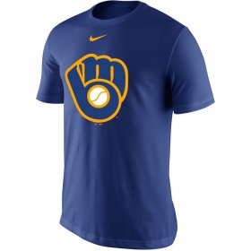 Wholesale Cheap Milwaukee Brewers Nike Legend Primary Logo Performance T-Shirt Royal