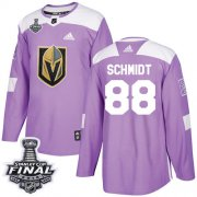 Wholesale Cheap Adidas Golden Knights #88 Nate Schmidt Purple Authentic Fights Cancer 2018 Stanley Cup Final Stitched NHL Jersey