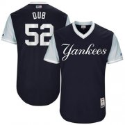 "Wholesale Cheap Yankees #52 C.C. Sabathia Navy ""Dub"" Players Weekend Authentic Stitched MLB Jersey"