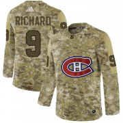 Wholesale Cheap Adidas Canadiens #9 Maurice Richard Camo Authentic Stitched NHL Jersey