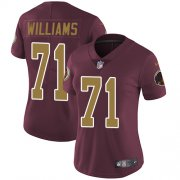 Wholesale Cheap Nike Redskins #71 Trent Williams Burgundy Red Alternate Women's Stitched NFL Vapor Untouchable Limited Jersey