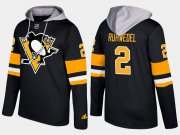 Wholesale Cheap Penguins #2 Chad Ruhwedel Black Name And Number Hoodie