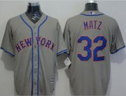 Wholesale Cheap Mets #32 Steven Matz Grey New Cool Base Stitched MLB Jersey