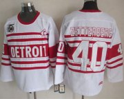 Wholesale Cheap Red Wings #40 Henrik Zetterberg White 75TH CCM Stitched NHL Jersey