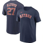 Wholesale Cheap Houston Astros #27 Jose Altuve Nike Name & Number T-Shirt Navy