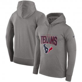 Wholesale Cheap Houston Texans Nike Sideline Property Of Performance Pullover Hoodie Gray