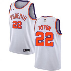 Wholesale Cheap Nike Phoenix Suns #22 Deandre Ayton White NBA Swingman Association Edition Jersey