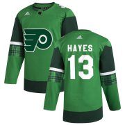 Wholesale Cheap Philadelphia Flyers #13 Kevin Hayes Men's Adidas 2020 St. Patrick's Day Stitched NHL Jersey Green