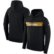 Wholesale Cheap Men's Jacksonville Jaguars Nike Black Sideline Team Performance Pullover Hoodie