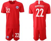 Wholesale Cheap Chile #22 Henriquez Home Soccer Country Jersey