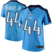 Wholesale Cheap Nike Titans #44 Vic Beasley Jr Light Blue Women's Stitched NFL Limited Rush Jersey