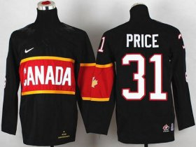 Wholesale Cheap Team Canada 2014 Olympic #31 Carey Price Black Stitched Youth NHL Jersey