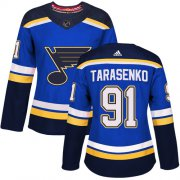 Wholesale Cheap Adidas Blues #91 Vladimir Tarasenko Blue Home Authentic Women's Stitched NHL Jersey