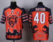 Wholesale Cheap Nike Bears #40 Gale Sayers Orange Men's Stitched NFL Elite Noble Fashion Jersey
