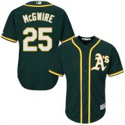 Wholesale Cheap Athletics #25 Mark McGwire Green Cool Base Stitched Youth MLB Jersey