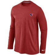 Wholesale Cheap Nike Houston Texans Sideline Legend Authentic Logo Long Sleeve T-Shirt Red