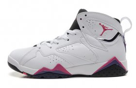 Wholesale Cheap WMNS Air Jordan 7 GS Shoes White/red-blue