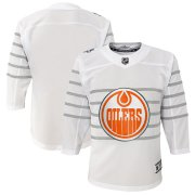Wholesale Cheap Youth Edmonton Oilers White 2020 NHL All-Star Game Premier Jersey