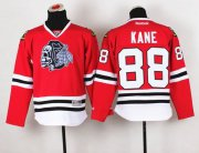 Wholesale Blackhawks #88 Patrick Kane Red(White Skull) Stitched Youth NHL Jersey