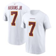 Wholesale Cheap Washington Redskins #7 Dwayne Haskins Football Team Nike Player Name & Number T-Shirt White