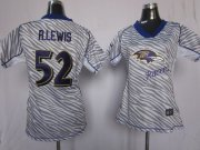 Wholesale Cheap Nike Ravens #52 Ray Lewis Zebra Women's Stitched NFL Elite Jersey