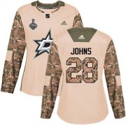 Cheap Adidas Stars #28 Stephen Johns Camo Authentic 2017 Veterans Day Women's 2020 Stanley Cup Final Stitched NHL Jersey