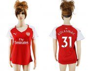 Wholesale Cheap Women's Arsenal #31 Kolasinac Home Soccer Club Jersey