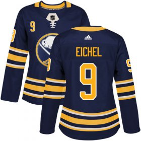 Wholesale Cheap Adidas Sabres #9 Jack Eichel Navy Blue Home Authentic Women\'s Stitched NHL Jersey