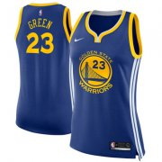 Wholesale Cheap Nike Golden State Warriors #23 Draymond Green Blue Women's NBA Swingman Icon Edition Jersey