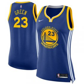 Wholesale Cheap Nike Golden State Warriors #23 Draymond Green Blue Women\'s NBA Swingman Icon Edition Jersey
