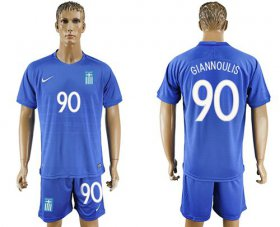 Wholesale Cheap Greece #90 Giannoulis Away Soccer Country Jersey