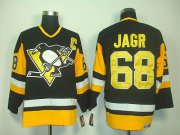 Wholesale Cheap Penguins #68 Jaromir Jagr Black CCM Throwback Stitched NHL Jersey