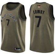 Wholesale Cheap Raptors #7 Kyle Lowry Green Salute to Service 2019 Finals Bound Basketball Swingman Jersey