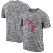 Wholesale Cheap Tampa Bay Buccaneers Nike Sideline Legend Velocity Travel Performance T-Shirt Heathered Black