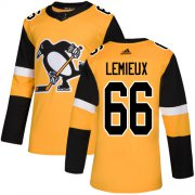 Wholesale Cheap Adidas Penguins #66 Mario Lemieux Gold Alternate Authentic Stitched Youth NHL Jersey