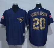 Wholesale Cheap Blue Jays #20 Josh Donaldson Denim Blue Salute to Service Stitched MLB Jersey