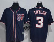 Wholesale Cheap Nationals #3 Michael Taylor Navy Blue New Cool Base Stitched MLB Jersey